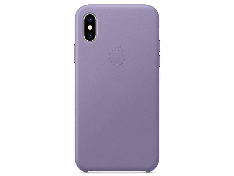 Чехол-накладка для iPhone XS Apple Leather Case Lilac клип-кейс, кожа накладка apple leather case для iphone 7 красный mmy62zm a