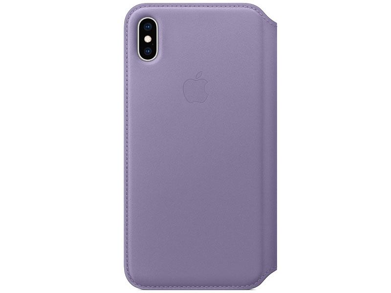 Чехол-книжка для Apple iPhone XS Max Apple Leather Folio Lilac книжка, кожа стоимость