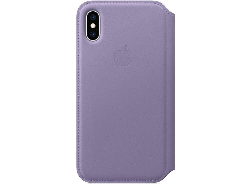 Чехол-книжка для iPhone XS Apple Leather Folio Purple книжка, кожа стоимость