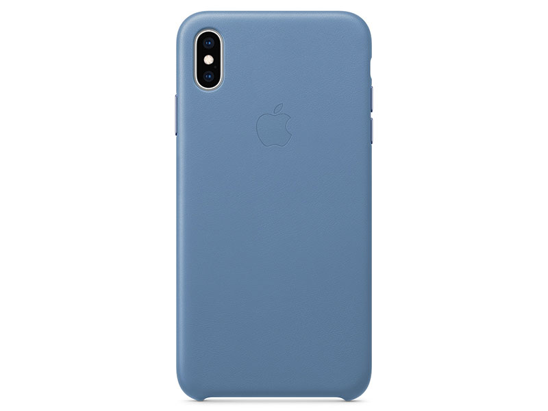 Чехол-накладка для iPhone XS Max Apple Leather Case Cornflower клип-кейс, кожа