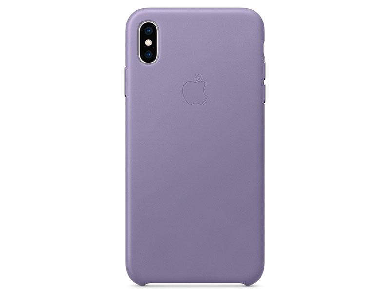 Чехол-накладка для iPhone XS Max Apple Leather Case Lilac клип-кейс, кожа
