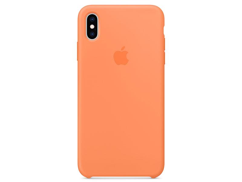 Чехол-накладка для Apple iPhone XS Max Apple Silicone Case Papaya клип-кейс, кожа