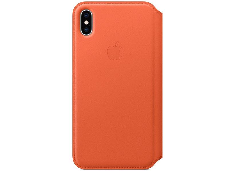 Чехол-книжка для Apple iPhone XS Max Apple Leather Folio Sunset книжка, кожа стоимость