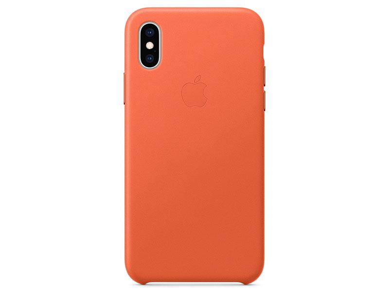 Чехол-накладка для iPhone XS Apple Leather Case Sunset клип-кейс, кожа накладка apple leather case для iphone 7 красный mmy62zm a