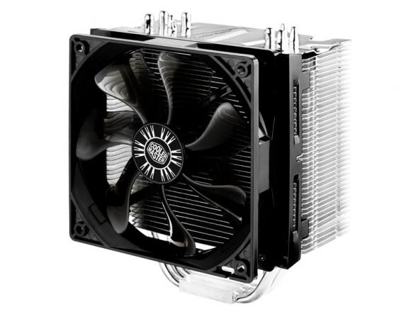 Фото - Кулер Cooler Master Hyper 412S (RR-H412-13FK-R1) 2011/1366/1156/1150/1155/775/FM1/AM3/AM2+/AM2/939 fan 12 cm, 1300 RPM, 53 CFM, TPD 250W кулер cooler master hyper tx3 evo rr tx3e 22pk r1 pwm tdp 140w lga1155 1156 775 1366 amd fm1 am3 am3 am2