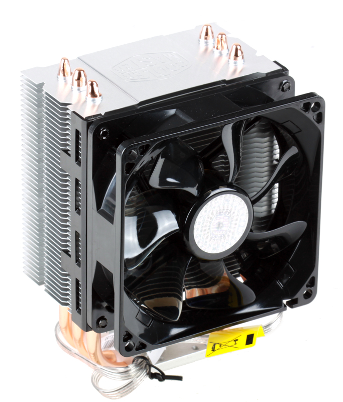 Кулер Cooler Master Hyper TX3 EVO (RR-TX3E-22PK-R1) 1366/1156/1150/1155/775/FM1/AM3+/AM3/AM2 fan 9 cm, 800-2200 RPM, PWM, 43 CFM, TPD 140W кулер cooler master x dream p115 rr x115 40pk r1