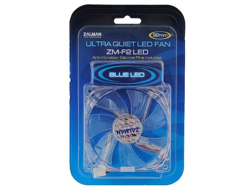 Вентилятор Zalman ZM-F2BL 92mm 1500-2800rpm синяя подсветка вентилятор zalman zm f2bl