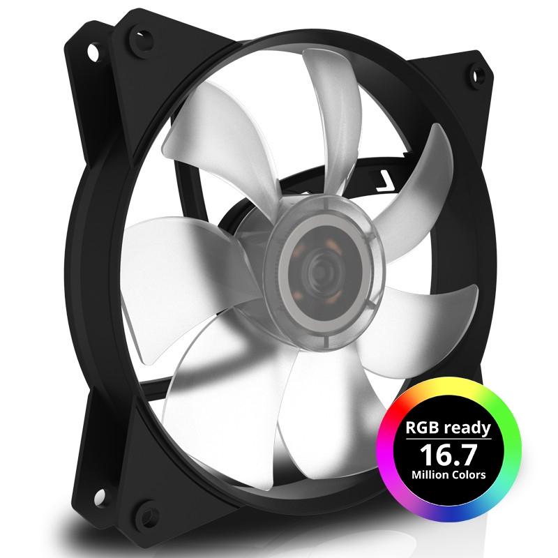 Кулер для корпуса 1 Ватт Cooler Master MF121L RGB LED Fan, 3pin / R4-C1DS-12FC-R2 /