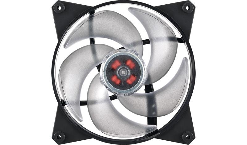 Кулер для корпуса 1 Ватт Cooler Master MasterFan Pro 140 Air Pressure, 140mm, 4-Pin (PWM), RGB / MFY-P4DN-15NPC-R1 / cooler master mastergel maker mgz ndsg n15m r1 шприц 4 гр