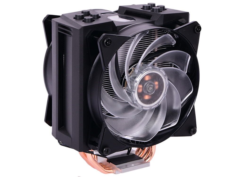 Фото - Кулер Cooler Master CPU Cooler MasterAir MA410M, 600-1800 RPM, 150W, addressable RGB, lighting controller, Full Socket Support / MAM-T4PN-218PC-R1 / кулер для корпуса 1 ватт cooler master masterfan pro 140 air pressure 140mm 4 pin pwm rgb mfy p4dn 15npc r1