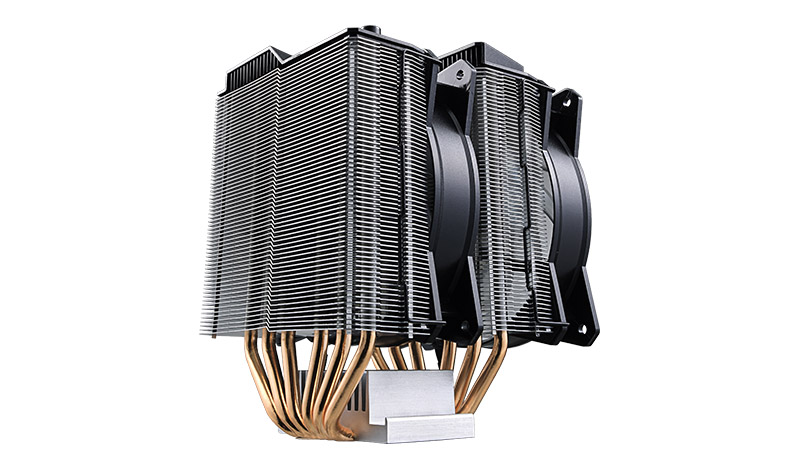 Фото - Кулер Cooler Master CPU Cooler MasterAir MA620P, 600-2400 RPM, 200W, RGB LED fan, RGB lighting controller, Full Socket Support / MAP-D6PN-218PC-R1 / кулер для корпуса 1 ватт cooler master masterfan pro 140 air pressure 140mm 4 pin pwm rgb mfy p4dn 15npc r1