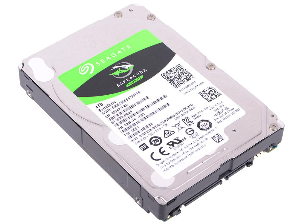 Жесткий диск Seagate Barracuda ST4000LM024 4Tb SATA/2.5/5400 rpm/128Mb жесткий диск seagate ironwolf pro 4tb st4000ne001