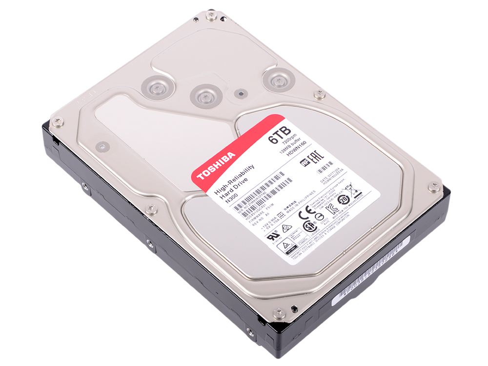 все цены на Жесткий диск Toshiba SATAIII HDWN160UZSVA 6 TB SATA III/3.5
