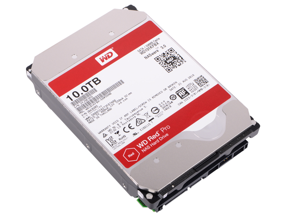 Жесткий диск Western Digital Red Pro WD101KFBX 10Tb SATA/3.5