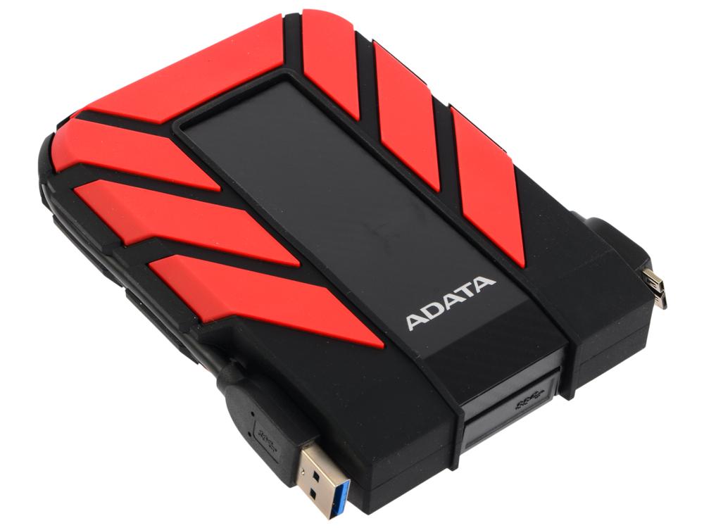 Внешний жесткий диск 2Tb Adata HD710P AHD710P-2TU31-CRD черный/красный (2.5 USB3.0) внешний жесткий диск 2 5 usb3 0 2tb adata hd710p ahd710p 2tu31 cbk черный