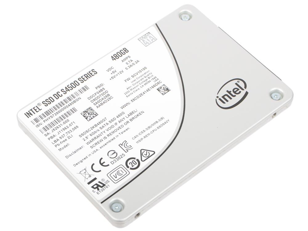 лучшая цена SSD накопитель Intel SSDSC2KB480G701 956899 480GB SATAIII/2.5