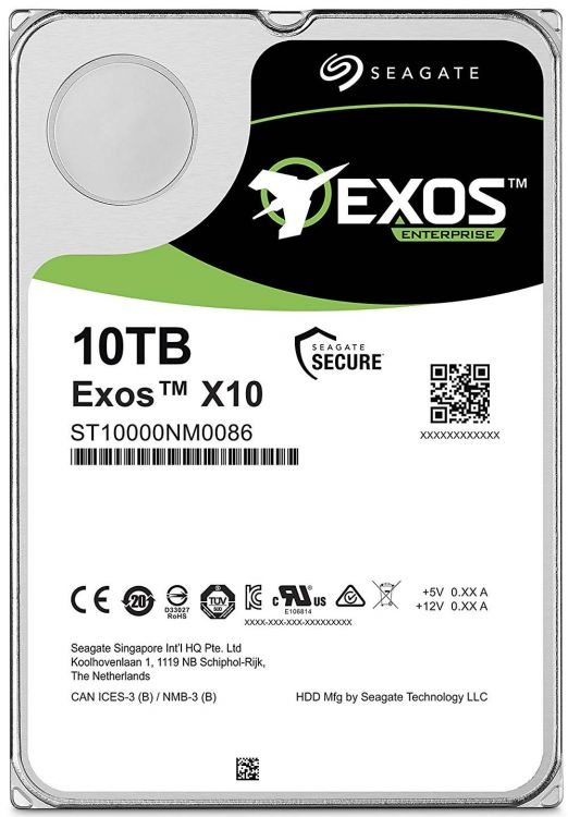 Жесткий диск Seagate ST10000NM0086 10Tb SATA/3.5
