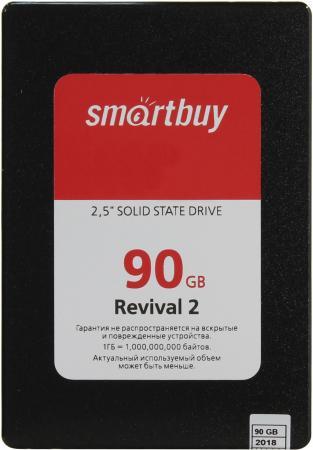 SSD накопитель Smartbuy Revival 2 SB090GB-RVVL2-25SAT3 90GB SATA III/2.5 внутренний ssd накопитель 80gb smartbuy splash 2 sb080gb splh2 25sat3 sata3 2 5