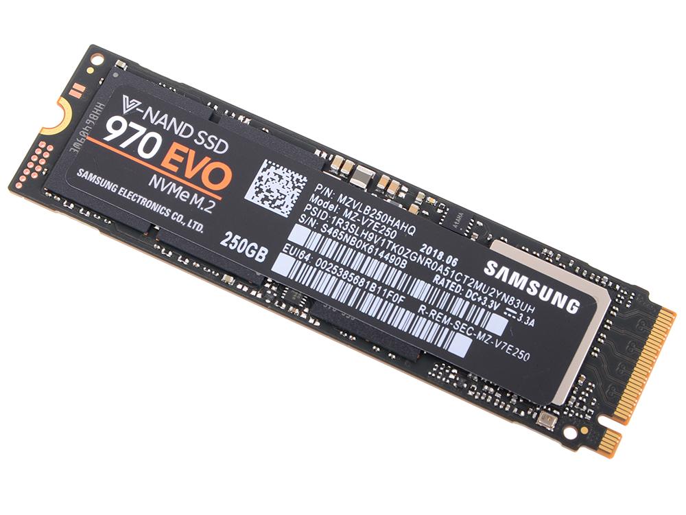 SSD накопитель NVMe Samsung 970 EVO MZ-V7E250BW 250GB PCI-E/M.2 2280 MZ-V7E250BW