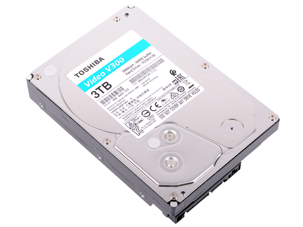 Жесткий диск Toshiba Video Streaming V300 HDWU130UZSVA 3TB SATA III/3.5/5940 rpm/64MB жесткий диск 3 5 2 tb 5700rpm 64mb cache toshiba video streaming v300 sata iii 6 gb s hdwu120uzsva