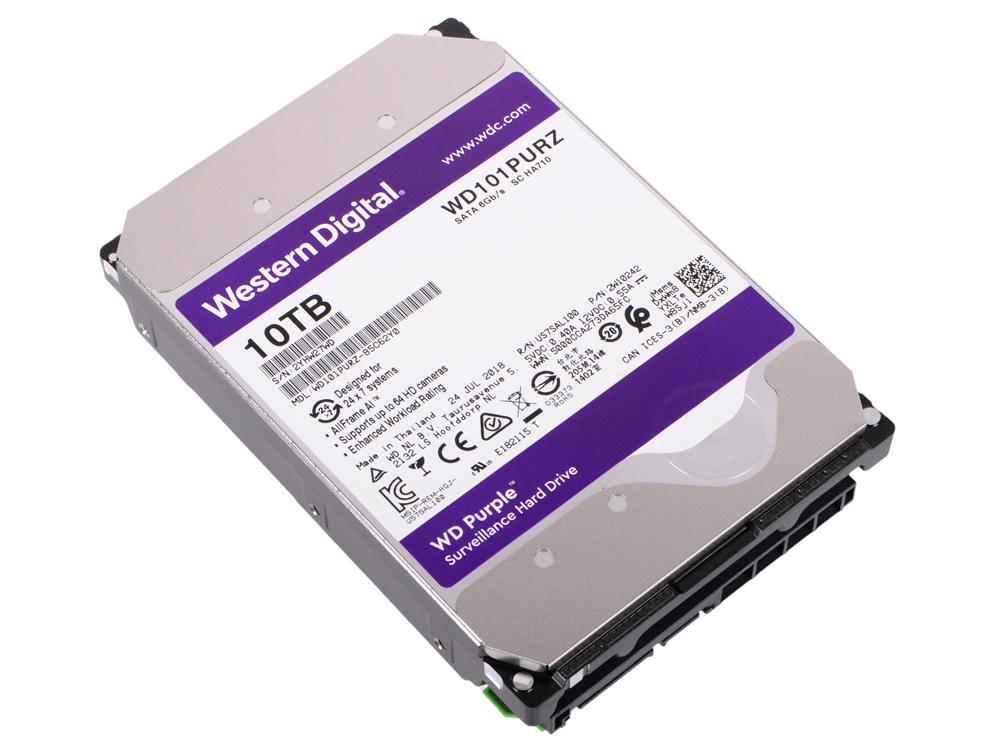 Жесткий диск Western Digital Purple WD101PURZ 10000 ГБ SATA/3.5/7200 rpm/256Mb цена