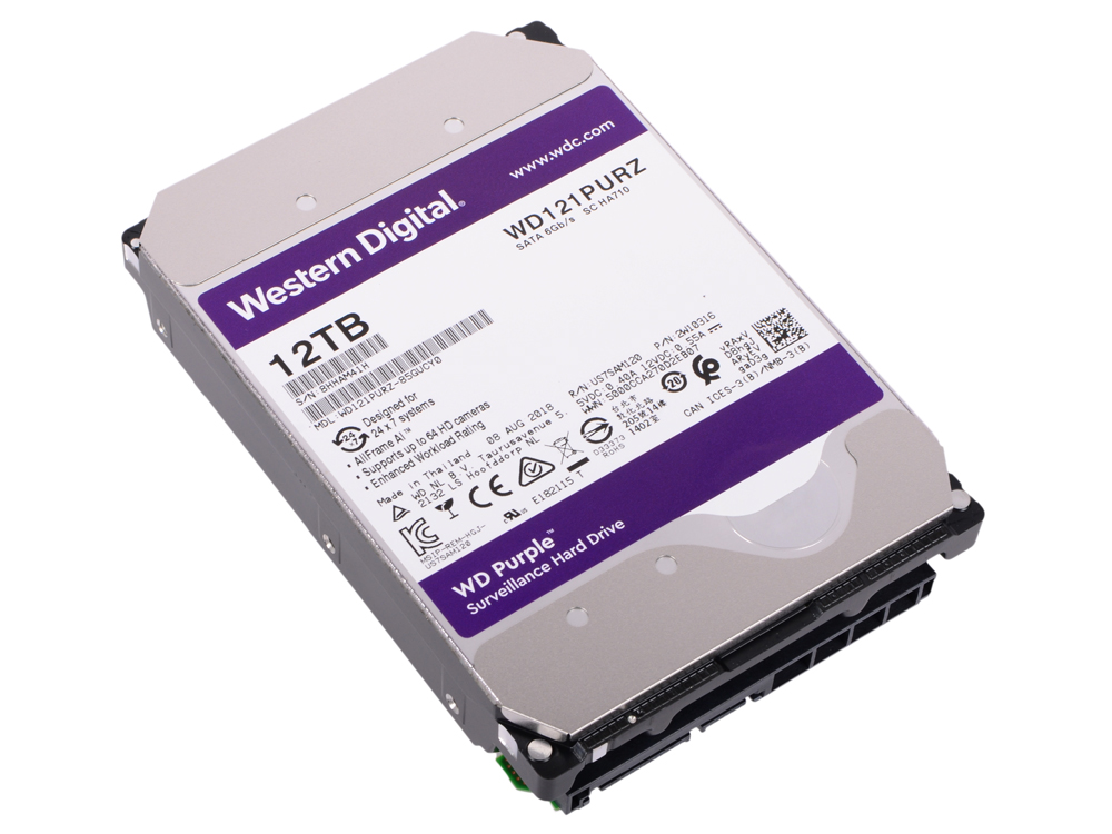 Жесткий диск Western Digital Purple WD121PURZ 12Tb SATA/3.5