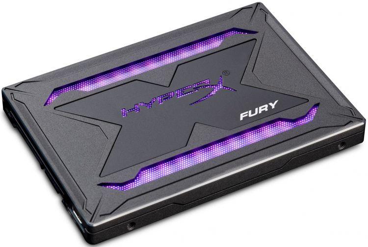 SSD накопитель Kingston HyperX Fury RGB SHFR200/240G 240Gb SATA/2.5 внутренний ssd накопитель kingston 240gb kingston m 2 sm2280s3g2 240g