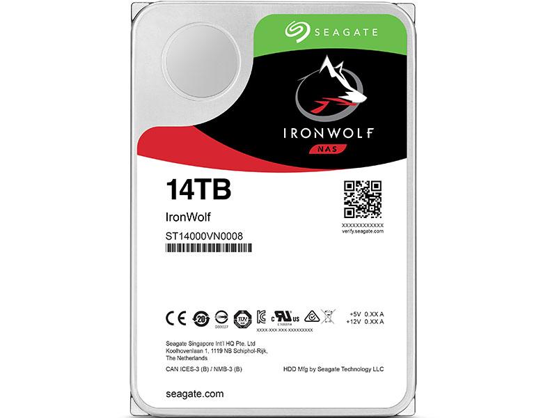 Жесткий диск Seagate IronWolf (ST14000VN0008) 14Tb SATA/3.5/7200 rpm/256Mb жесткий диск 3 5 3tb 5900rpm seagate ironwolf sataiii st3000vn007