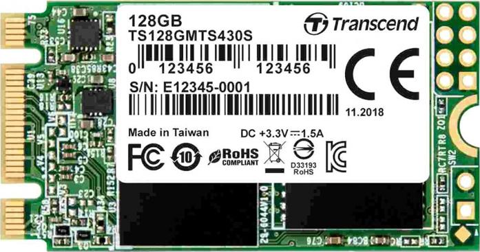 SSD накопитель Transcend MTS430 TS128GMTS430S 128Gb M.2 все цены
