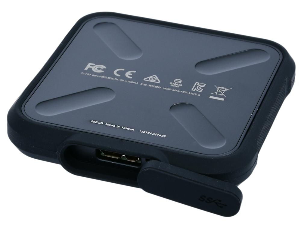 Внешний SSD диск ADATA SD700 ASD700-256GU31-CBK 256Gb USB 3.1/2.5