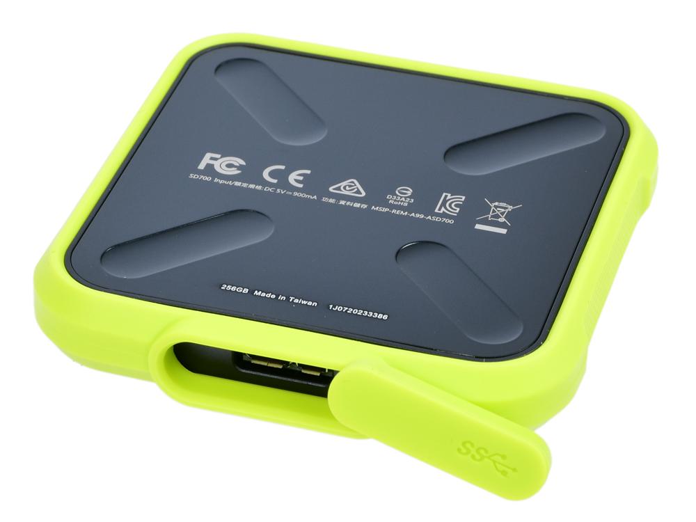 Внешний SSD диск ADATA SD700 ASD700-256GU31-CYL 256Gb USB 3.1
