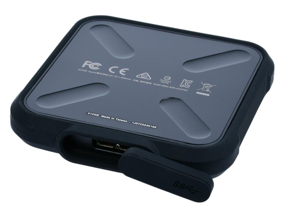 Внешний SSD диск ADATA SD700 ASD700-512GU31-CBK 512Gb USB 3.1