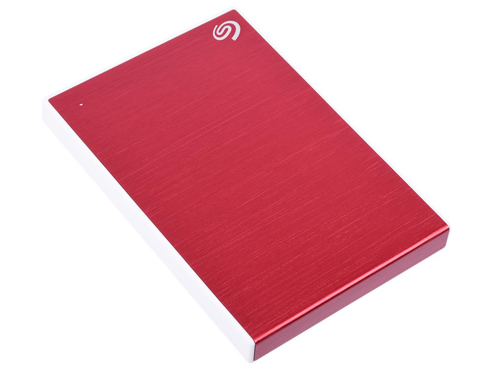 Внешний жесткий диск 2TB SEAGATE Backup Plus Slim USB3.1 RED STHN2000403 цена и фото
