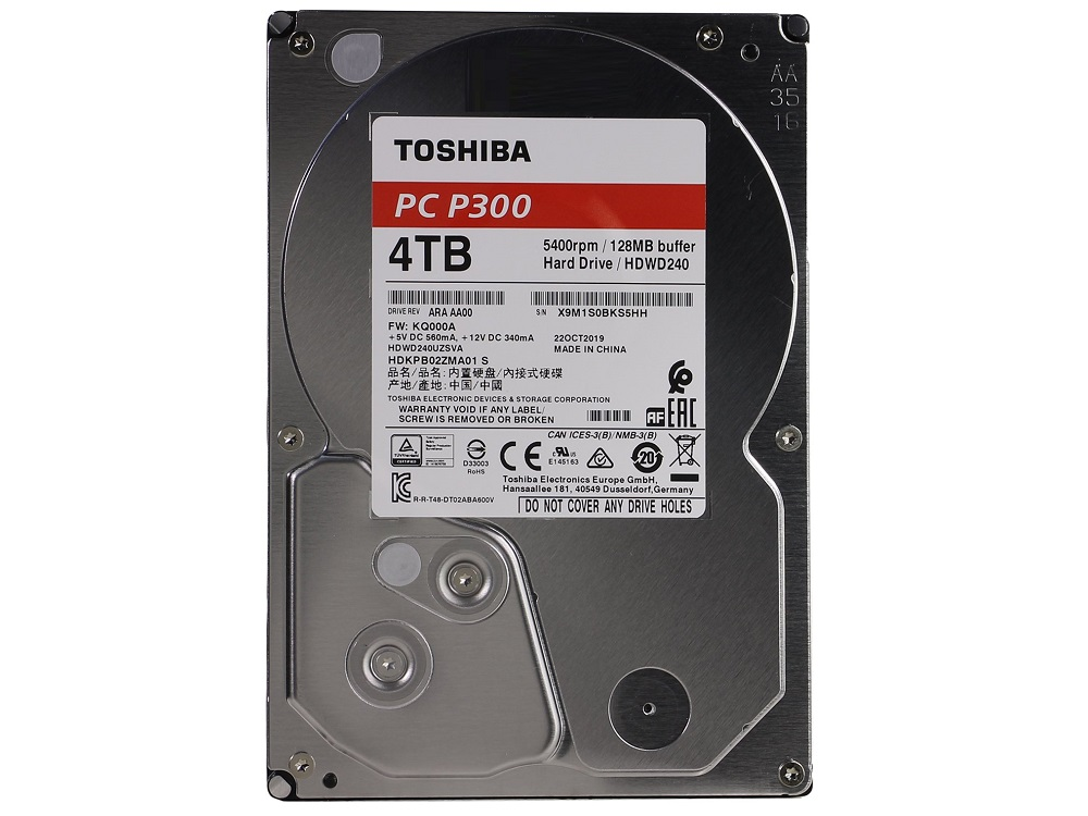 Жесткий диск Toshiba P300 HDWD240UZSVA 4Tb SATA/3.5