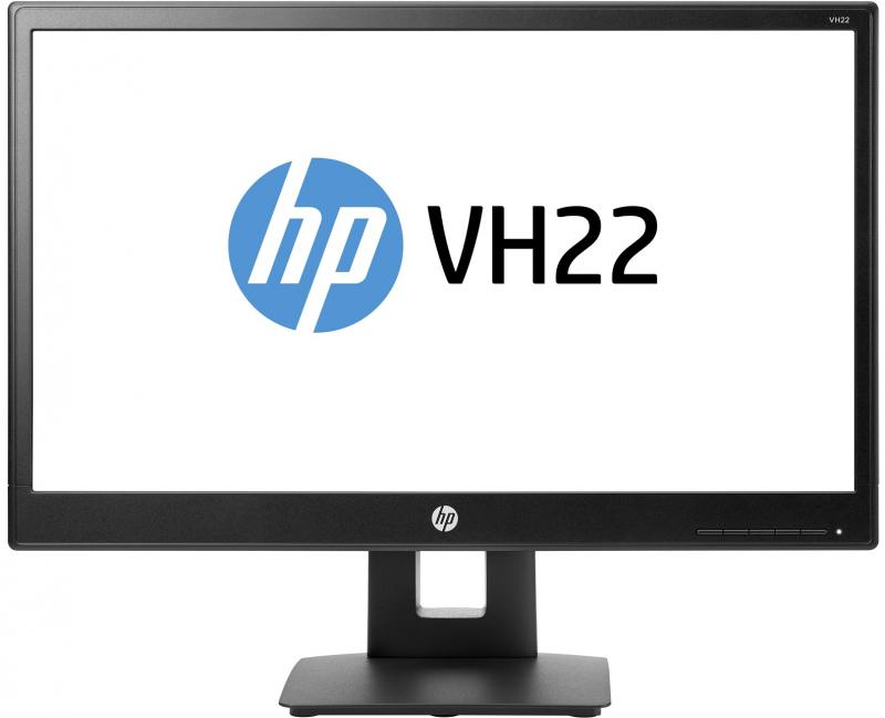 Монитор 21.5 HP VH22 черный TN 1920x1080 250 cd/m^2 5 ms DVI VGA DisplayPort X0N05AA hp hp vh22