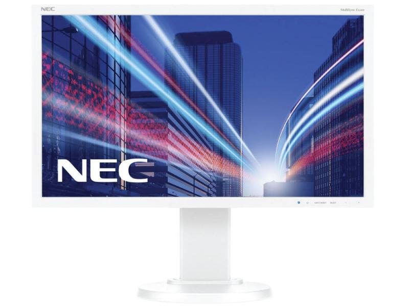 Монитор Nec E224Wi 22 White 1920 x 1080 (16:9) / 75Hz / IPS / 6ms / VGA, DVI, DP монитор nec ea275uhd