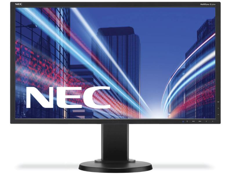 Монитор Nec E223W 22 Black 1680 x 1050 (16:10) / 75Hz / TN / 5ms / VGA, DVI, DP монитор 22 samsung s22d300hy tn led 1920x1080 5ms vga hdmi