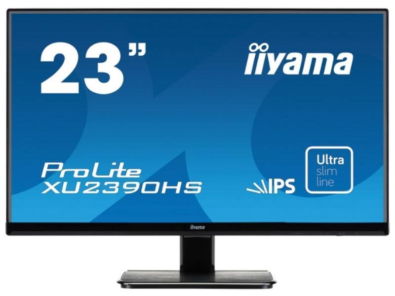 Монитор 23 iiYama Pro Lite XU2390HS-B1 черный AH-IPS 1920x1080 250 cd/m^2 5 ms DVI HDMI VGA Аудио монитор 23 8 philips 243s7ejmb 00 черный ips 1920x1080 250 cd m^2 5 ms g t g vga hdmi displayport usb аудио