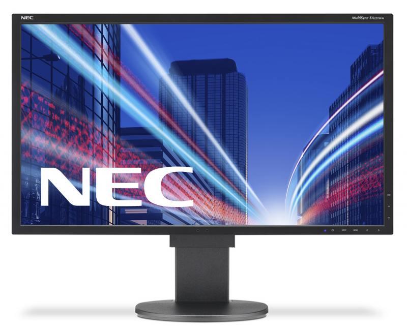 Монитор Nec MultiSync EA223WM 22 Black 1680 x 1050 (16:10) / 75Hz / TN / 5ms / VGA, DVI, DP монитор 22 samsung s22d300hy tn led 1920x1080 5ms vga hdmi