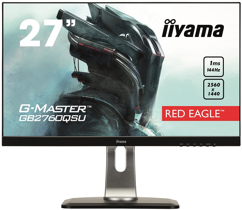 Монитор iiYama GB2760QSU-B1 27 Black 2560 x 1440/TN/144Hz/1ms/DVI, DP, HDMI монитор 24 asus vs248hr tn led 1920x1080 1ms vga dvi hdmi