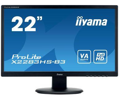 Монитор iiYama X2283HS-B3 21.5 Black 1920x1080/VA/75Hz/4ms/VGA (D-Sub), DP, HDMI, Speaker, VESA монитор iiyama xb2472hsuc b1 24 black 1920x1080 va 75hz 8ms vga d sub dvi dp usbhub speaker vesa