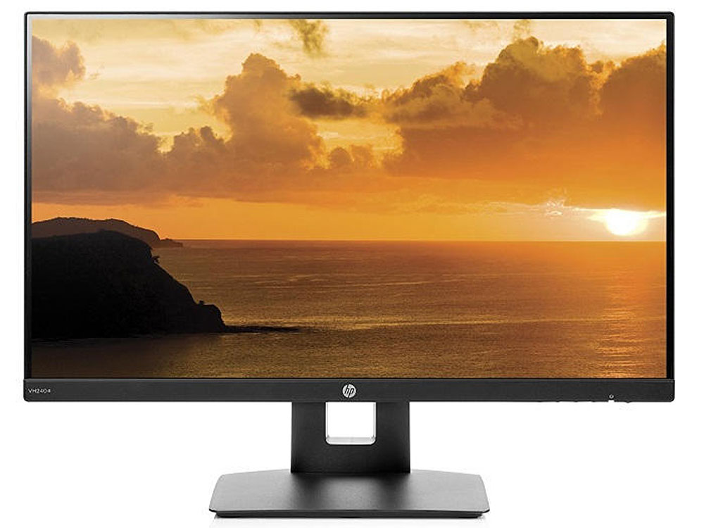 Монитор HP VH240a 23.8 Black 1920x1080/IPS/5ms/VGA, HDMI, Headph.Out, VESA цена