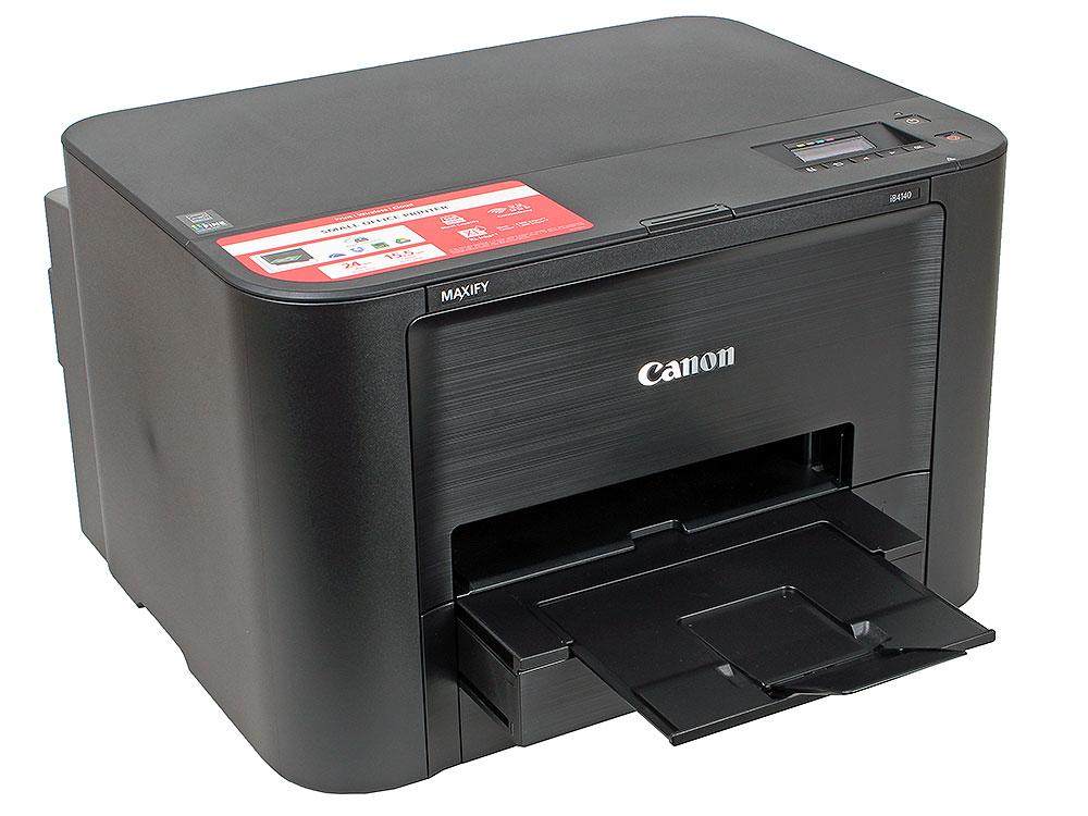 Принтер Canon MAXIFY iB4140 (струйный 24 стр./мин, 600 x 1200 dpi, duplex, А4, USB, WiFi, LAN) принтер струйный canon maxify ib4140 0972c007 a4 duplex wifi usb черный