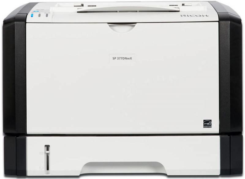 Принтер Ricoh SP 377DNwX (картридж 6400стр.) (Лазерный, 28 стр/мин, 1200х600dpi, duplex, LAN, WiFi, NFC, USB, А4) принтер ricoh sp 325 dnw