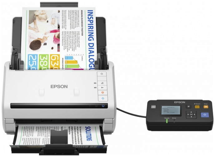 купить Сканер Epson WorkForce DS-530N CIS, A4, 600x600 dpi, АПД, USB 3.0, LAN онлайн