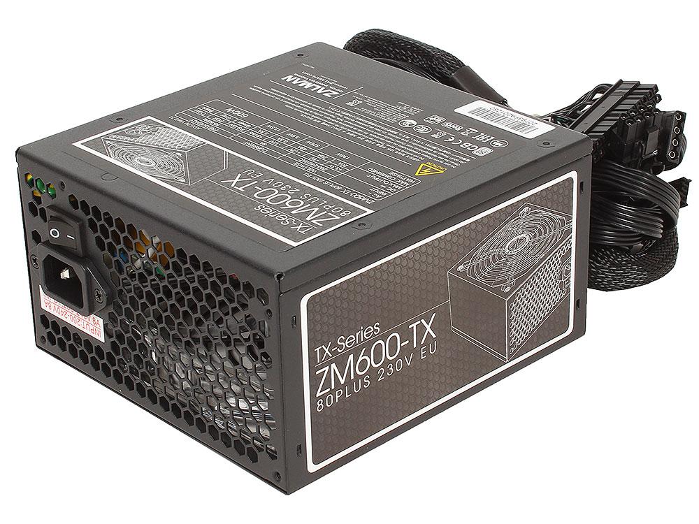 Блок питания Zalman 600W ZM600-TX v2.31, A.PFC, Fan 14 cm, Retail блок питания zalman 700w zm700 lx v2 3 a pfc fan 12 cm retail