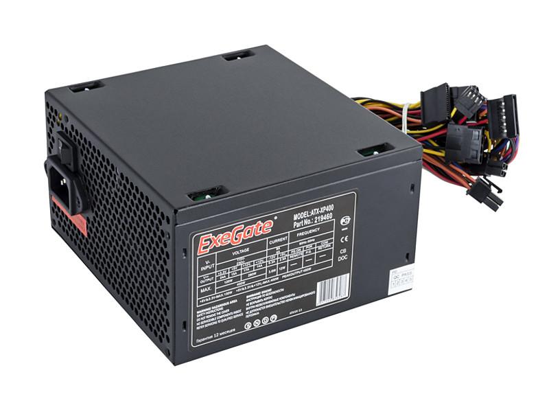 Блок питания ATX 400 Вт Exegate ATX-XP400 блок питания atx 600 вт exegate atx 600ppx ex221642rus