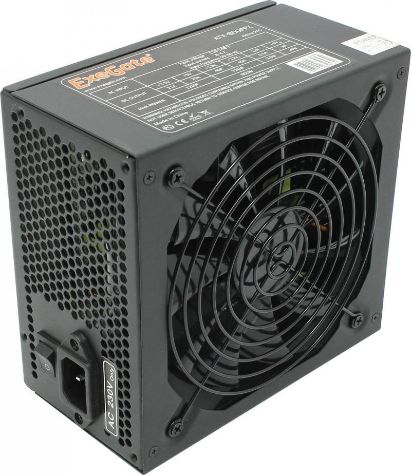 Блок питания ATX 800 Вт Exegate ATX-800PPX ATX 12В 2.3 блок питания exegate atx 650ppx 650w rtl 259612
