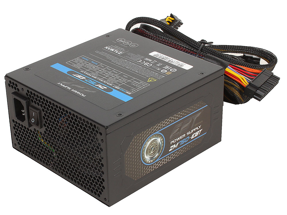 цена на Блок питания Zalman 750W ZM750-EBT v2.3, A.PFC, 80 Plus Gold, Fan 14 cm, Fully Modular,Retail