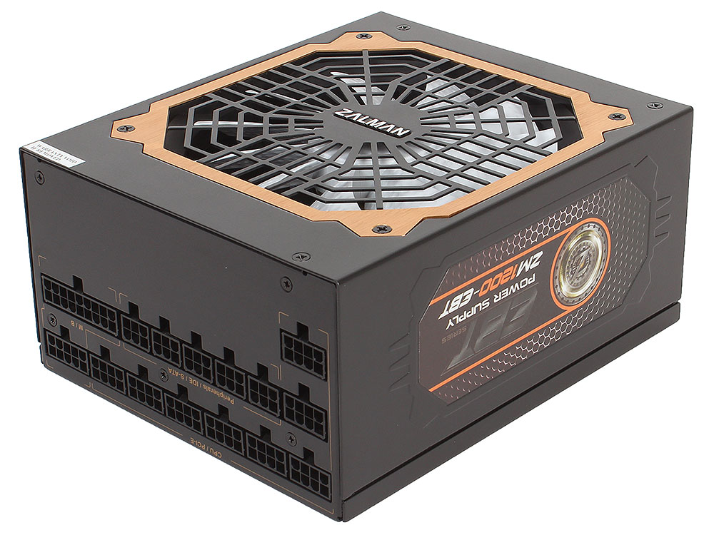 цена на Блок питания Zalman 1200W ZM1200-EBT v2.3, A.PFC, 80 Plus Gold, Fan 14 cm, Fully Modular,Retail